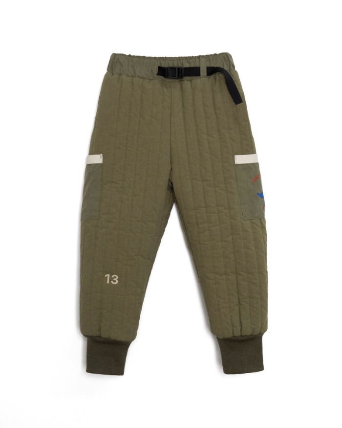 Quilted padding pants - Khaki