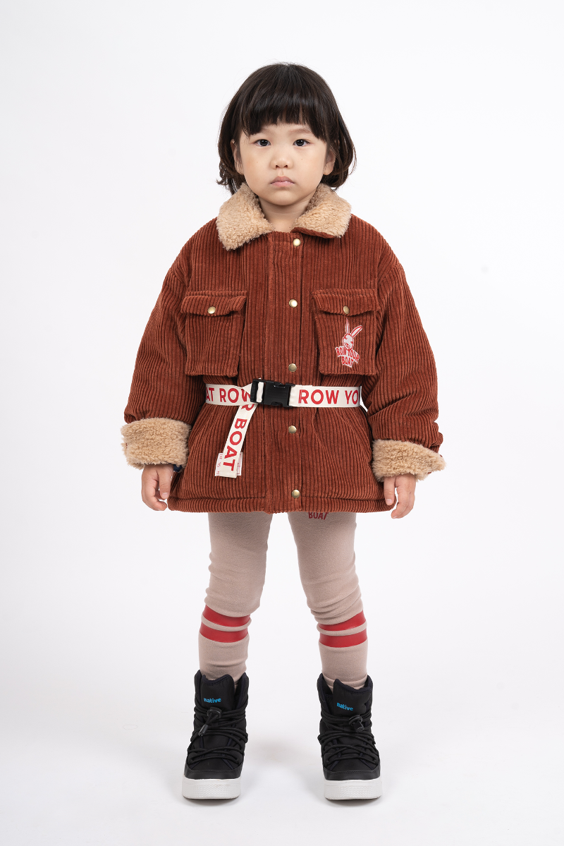 RABBIT CORDUROY FUR JUMPER – BRICK